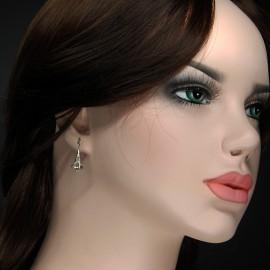 Earrings, calla lily