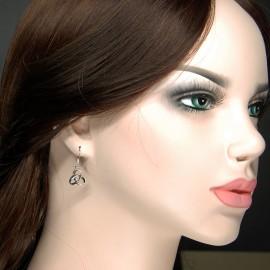 Earrings, 3D Trinity