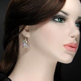 Stone Earrings, heart multi colours