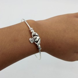 Bangle, Claddagh adjustable baby size
