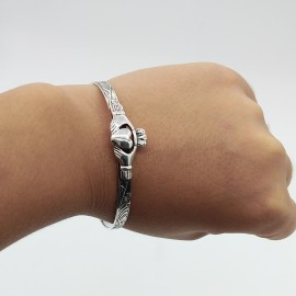 Bangle, Claddagh baby adjustable size