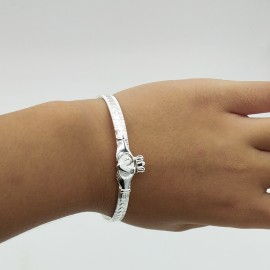 Bangle, diameters of 46mm and 55mm adjustabe Claddagh hearts band for kids