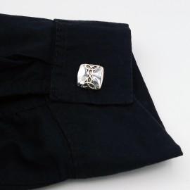 Gift Jewelry, double Trinities square cufflinks