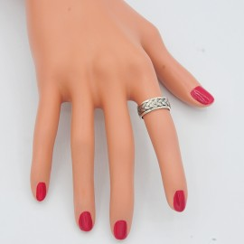 Ring, 7mm band braid design