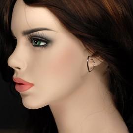 Earrings, 26 mm heart shape