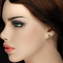 Marcasite Earrings, enamel Trinity
