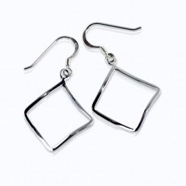 Earrings, 17mm curve square design
