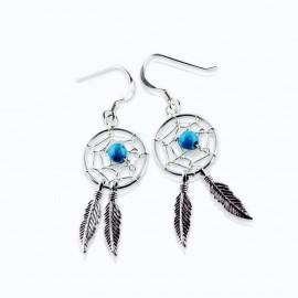 Dream Catcher Earrings Turquoise Bead
