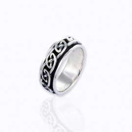 Ring, Big and Medium sizes spinning Celtic