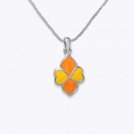 Enamel Pendant, flower shape
