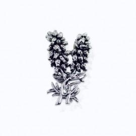 Brooch, heather flowers