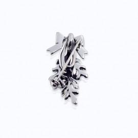 Brooch, mistletoe and ribbon