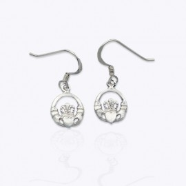 Earrings, 10 mm. round Claddagh.