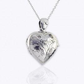 Necklace Locket, 22 mm heart urn, missing you mom engraved.