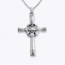 Necklace Pendant, Claddagh and Trinity cross.