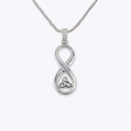 Necklace Pendant, Trinity celtic in infinity.