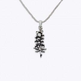 Necklace Pendant, Heather flowers.