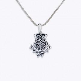 Necklace Pendant, Celtic thistles.
