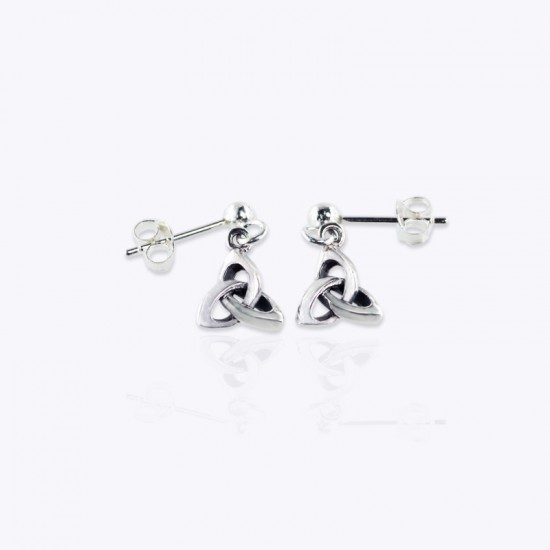 Earrings, 8mm 3D Trinity and ball post.