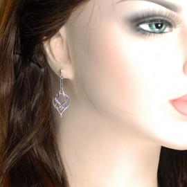 Earrings, drop shape Celtic.