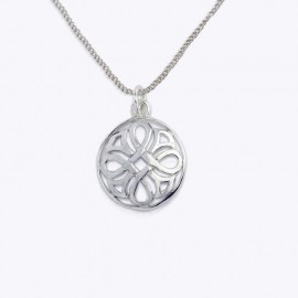Necklace Pendant, hidden cross pattée and curved lines.
