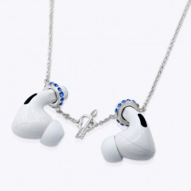 Airpods and Airpods Pro anti-Loss 20 inches Necklace Chain with Swarovski Crystals.