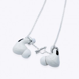 Minimalist Airpod Anti-Loss 20 inches unisex Necklace Chain with Silver Plated.