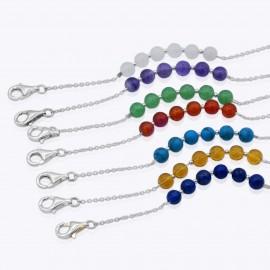 Mask Glasses Chain, 24 inch. Lapis, Amethyst, Emerald, Carnelian, Rose Quartz, Citrine, Turquoise
