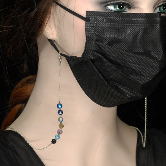 Face Mask Glasses Chain, 24 inch. into the Galaxy Crystal.