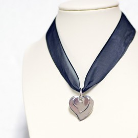 Pendant, double hearts