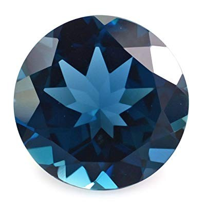Authentic blue topaz